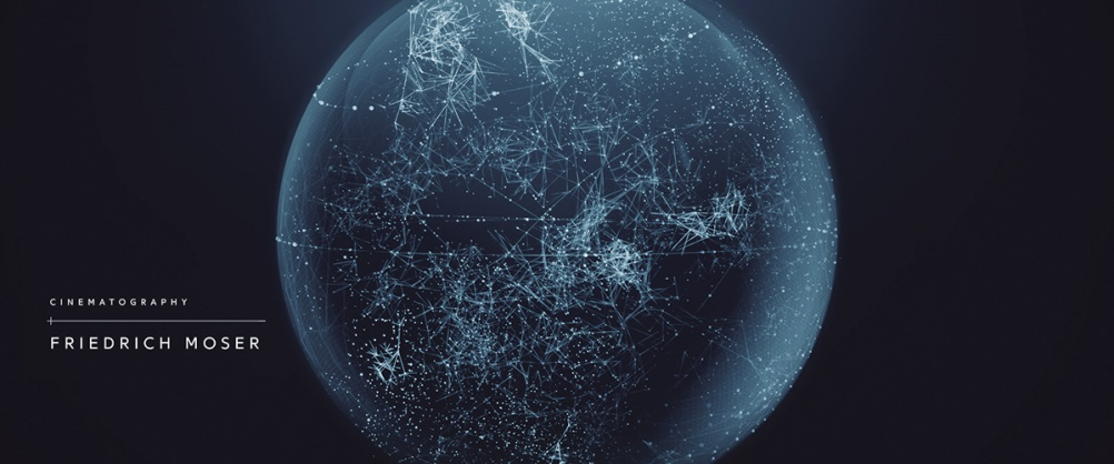 A globe graphic represents a vast network of communications and transactions