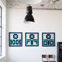 Anthony Burrill's Kheyameya wall hangings for Rotate Editions