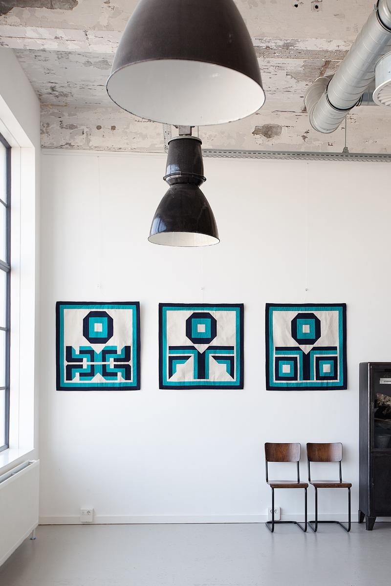 Anthony Burrill's three Kheyameya designs. Photo: Renee Arns