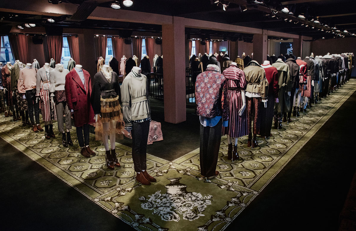 Burberry's September collection on display at its