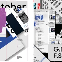 Posters created by Freytag Anderson and Callum Laird using Beth Wilson and James Gilchrist's identity for GDFS 2016