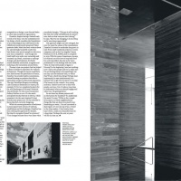 Spread from a feature on architect Peter Zumthor - one of 20 'game-changers' featured in Wallpaper*'s anniversary issue