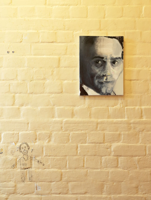 Marlene Dumas, Pasolini (2012) at Inside: Artists and Writer in Reading Prison, 2016 Image: Marcus J Leith, courtesy of Artangel