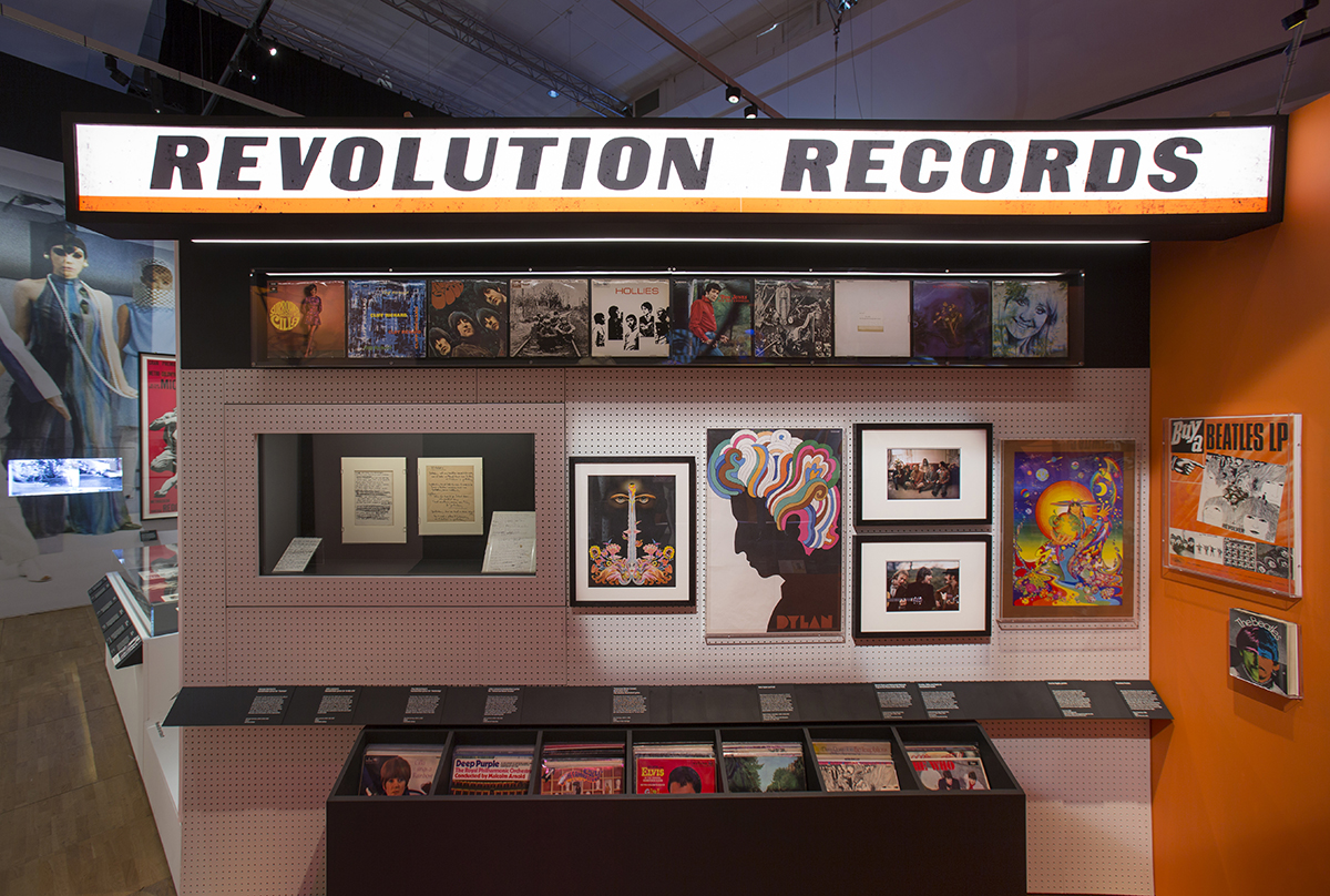 Record sleeves displayed at You Say You Want a Revolution?