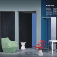 Spread from a feature on 20 years of interiors trends. Photography: Leonardo Scotti