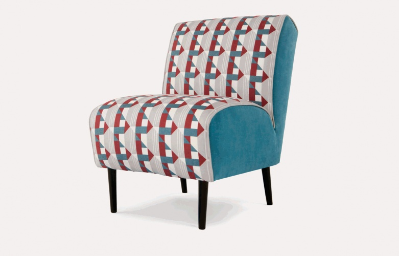 Made.com chair with Piccadilly Line upholstery