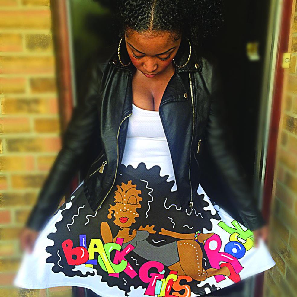 lack Girls Rock Dress by Leonie Tomlinson.