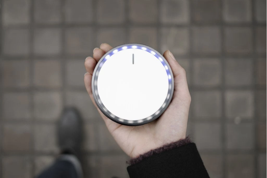 The Seeker, created by Map Project Office with AKQA, Onformative and Kudo, is a hand-held device that points to a predetermined location