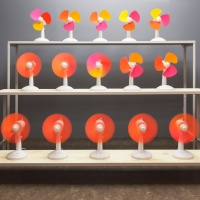 Raw Color's The Fans is a set of fans programmed to blend colour by motion