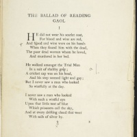 An extract from Wilde's The Ballad of Reading Gaol, a poem inspired by his time in the prison