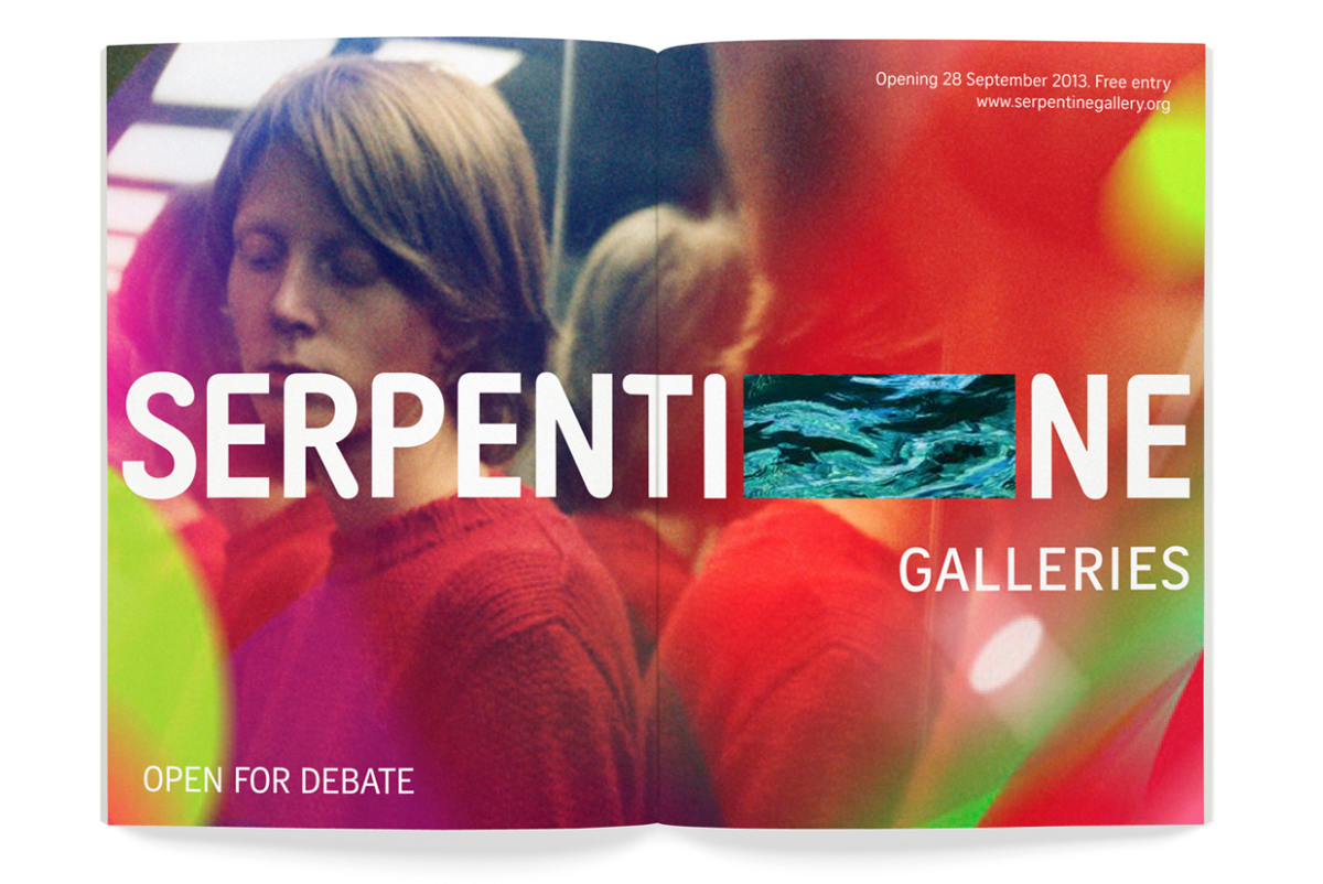 Marina Willer and Brian Boylan's identity for the Serpentine Galleries in Hyde Park, London