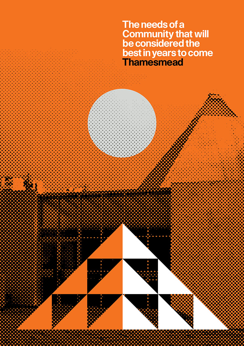 A Utopian Ideal: Peter Chadwick's Thamesmead Poster Series