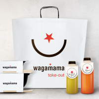 Packaging for Wagamama's takeaway range, designed by Pearlfisher