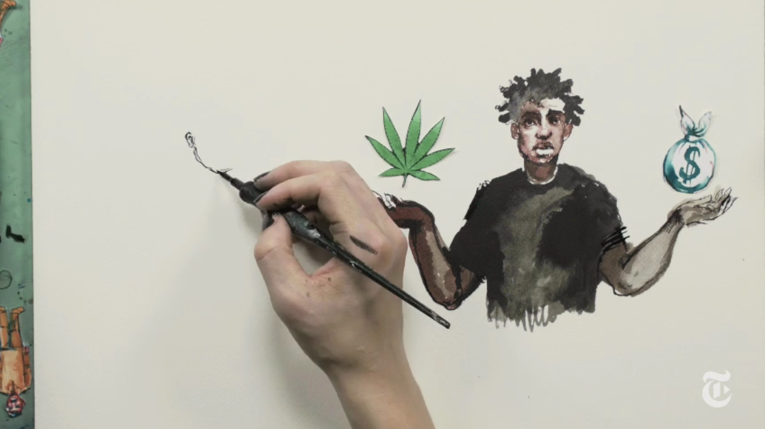 Still from A History of the War on Drugs – From Prohibition to Gold Rush by Jay Z, Molly Crabapple, Kim Boekbinder and Dream Hampton