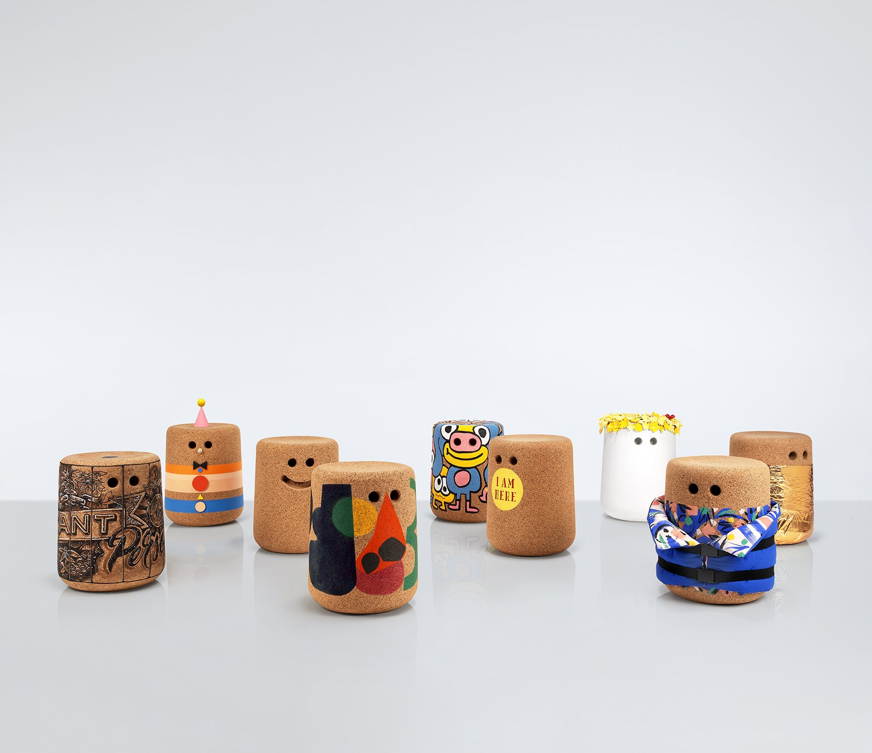 Designers and creatives including Anthony Burrill and Tom Dixon have created customised versions of Modus' Casper stool. Stools will be on display at Designjunction and later auctioned off to raise money for charity Movement on the Ground