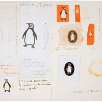 how the penguin logo was designed