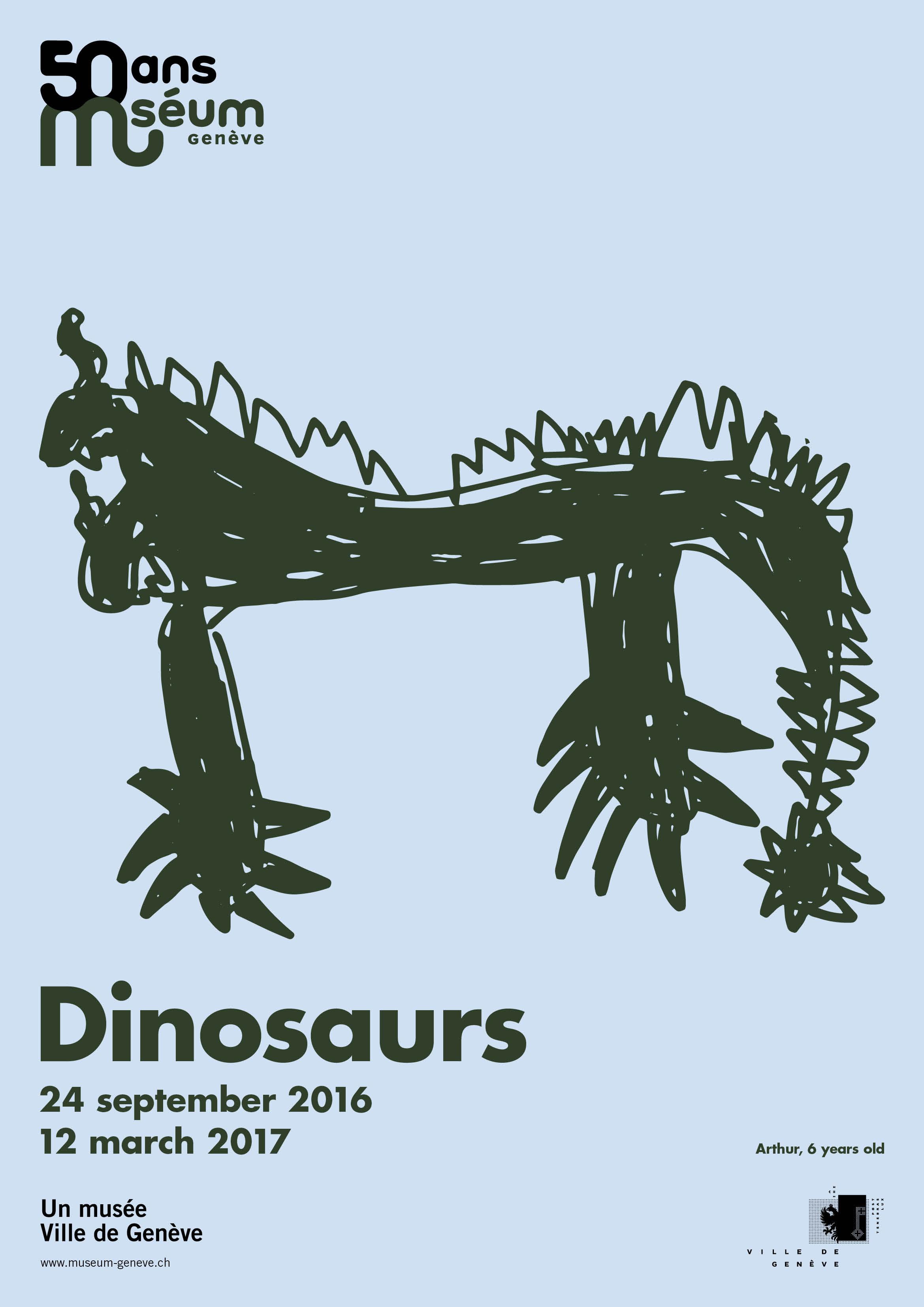 Geneva Museum Of Natural History Dinosaur Posters