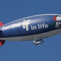 The Metlife Snoopy Two blimp. Image: Matt Field