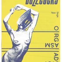 Poster for Buzzcocks' single 'Orgasm Addict', Linder Sterling, Malcolm Garrett, November 1977, 99 x 73 cm, 39 x 28¾ in. Courtesy of The Mott Collection
