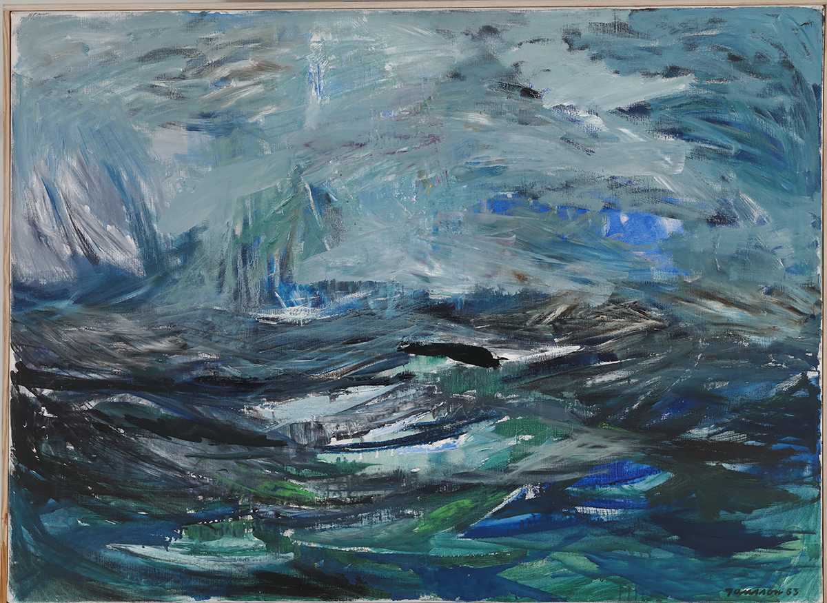 Tove Jansson, Abstract Sea, 1963, Oil, 73 x 100cm, Private Collection. Photo: Finnish National Gallery / Hannu Aaltonen