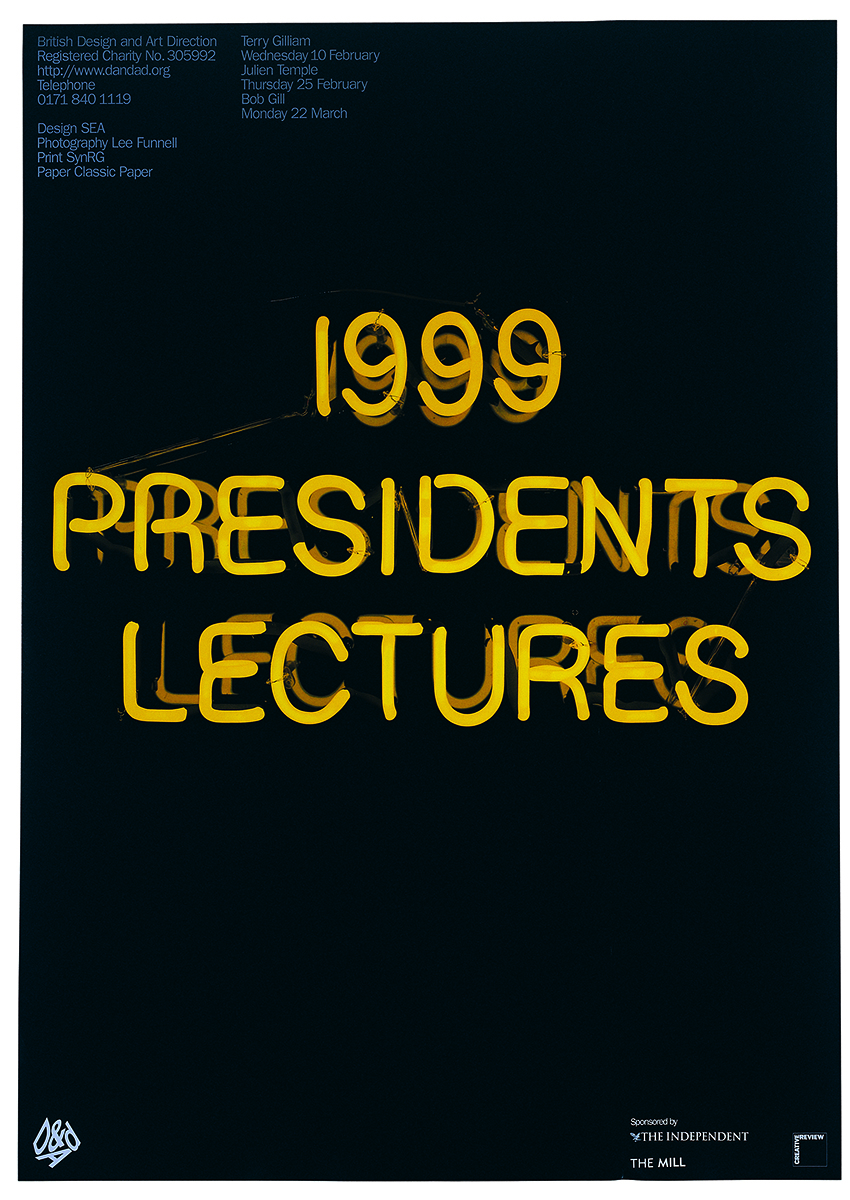 Poster for the D&AD President's Lectures