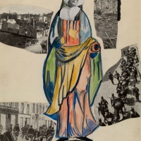 Erwin Blumenfeld, Madonna of War, Nun, Amsterdam ,1923. Collage, india ink, pencil and watercolour on paper. Courtesy Osborne Samuel