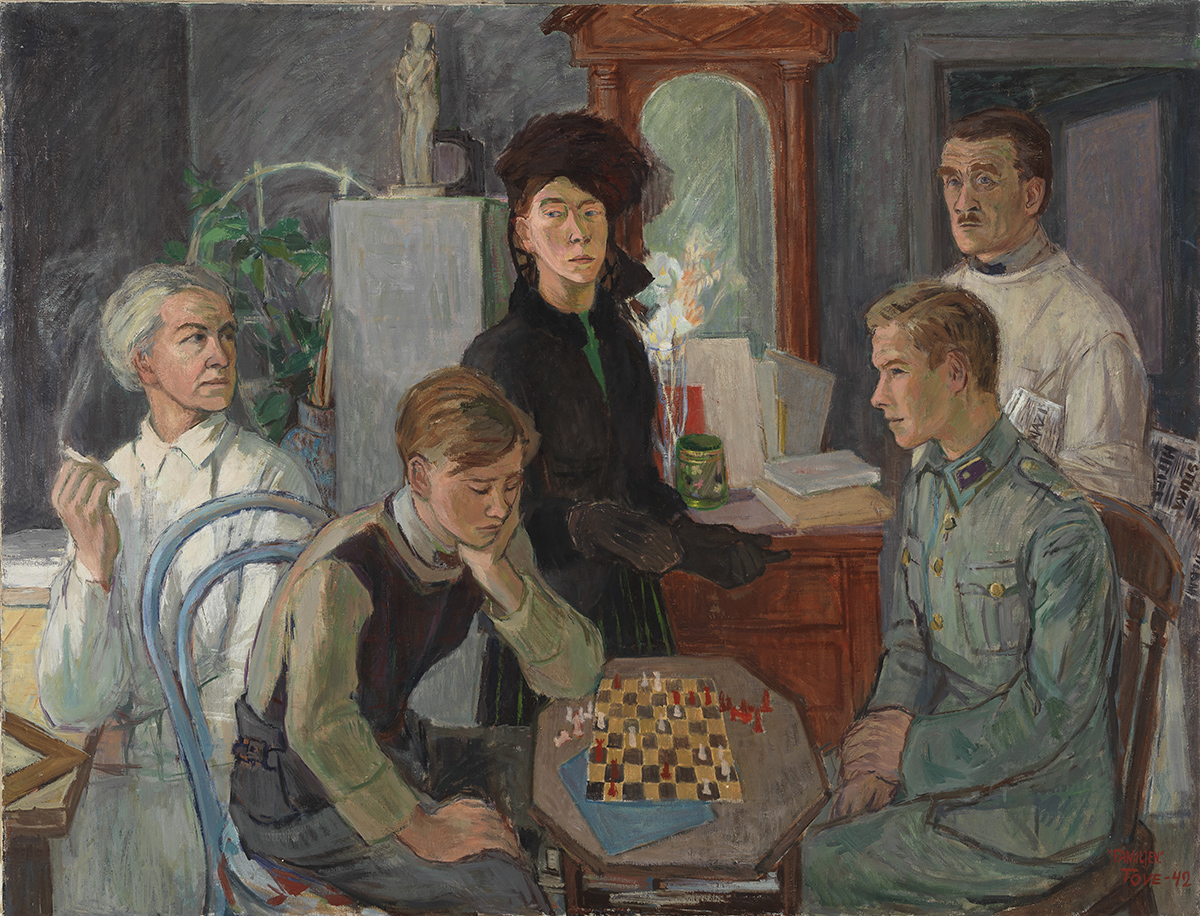 Tove Jansson, Family, 1942, Oil, 89 x 116 cm, Private Collection. Photo: Finnish National Gallery / Hannu Aaltonen