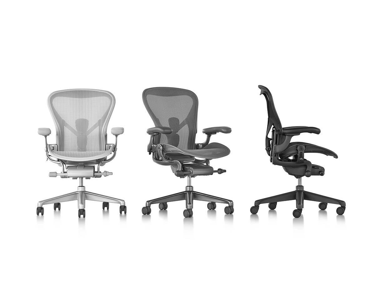 first look herman miller has redesigned the aeron chair. Black Bedroom Furniture Sets. Home Design Ideas