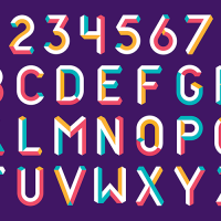 A new graphic system features colourful 3D lettering and illustrations