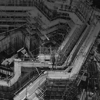 The NatWest tower - known as Tower 42 - under construction in the 1970s