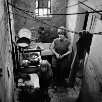 Family in slum property Saltley, 1969. Nick Hedges / Shelter