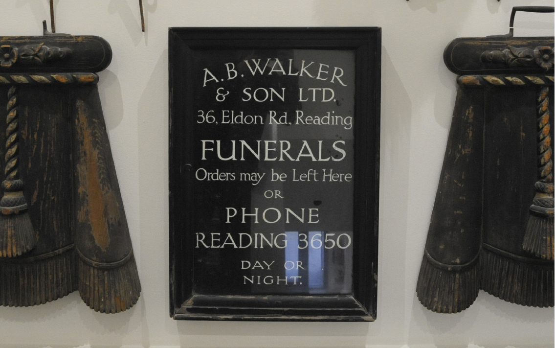An old sign found in the company's head office in Reading