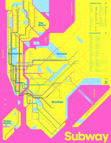 Wrong Color Subway Map (CMY) by Triboro