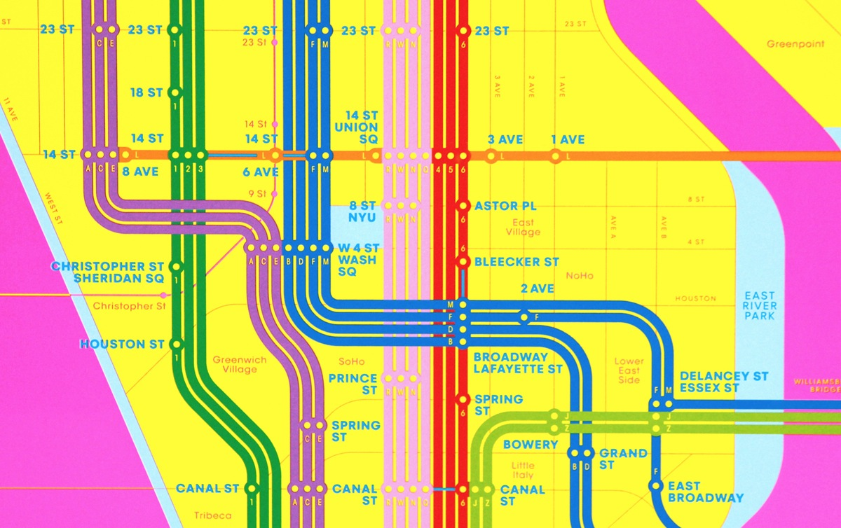 Creative Subway Map.Work Triboro Release Two Wrong Color Subway Maps Creative Review