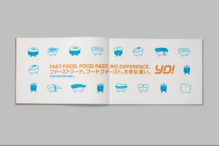 Sushi characters created for the new branding