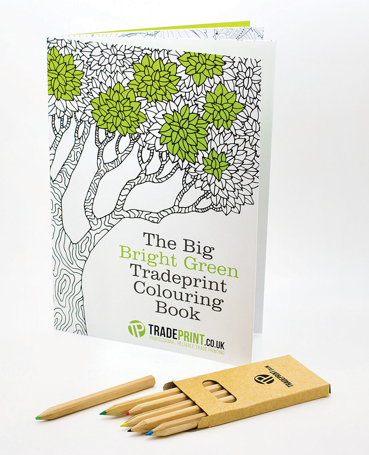 In an effort to promote creativity, Tradeprint made a colouring book and pencils