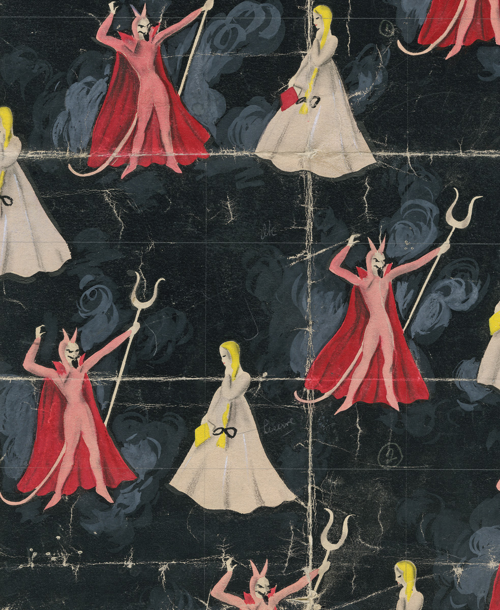 Hand-painted paper, 1920s-60s, Ilonka Karasz, United States or England