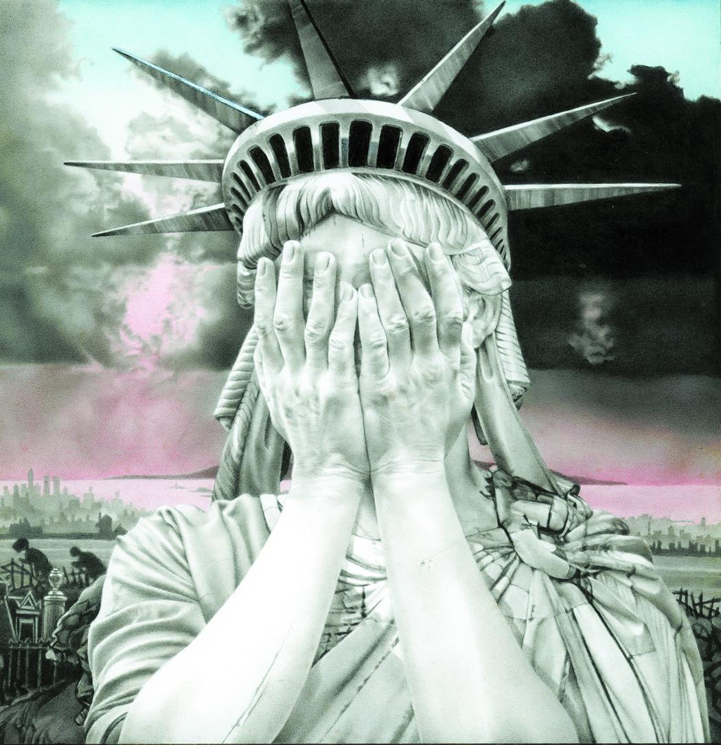 Oh America, 1989, gouache, 230 x 230 mm
