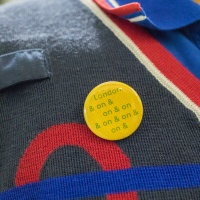 Jeremy Deller badge for #LondonIsOpen