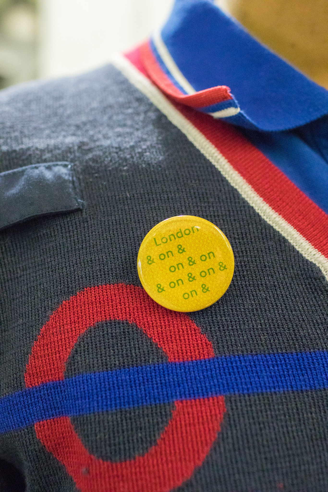 Jeremy Deller badge for #LondonIsOpen