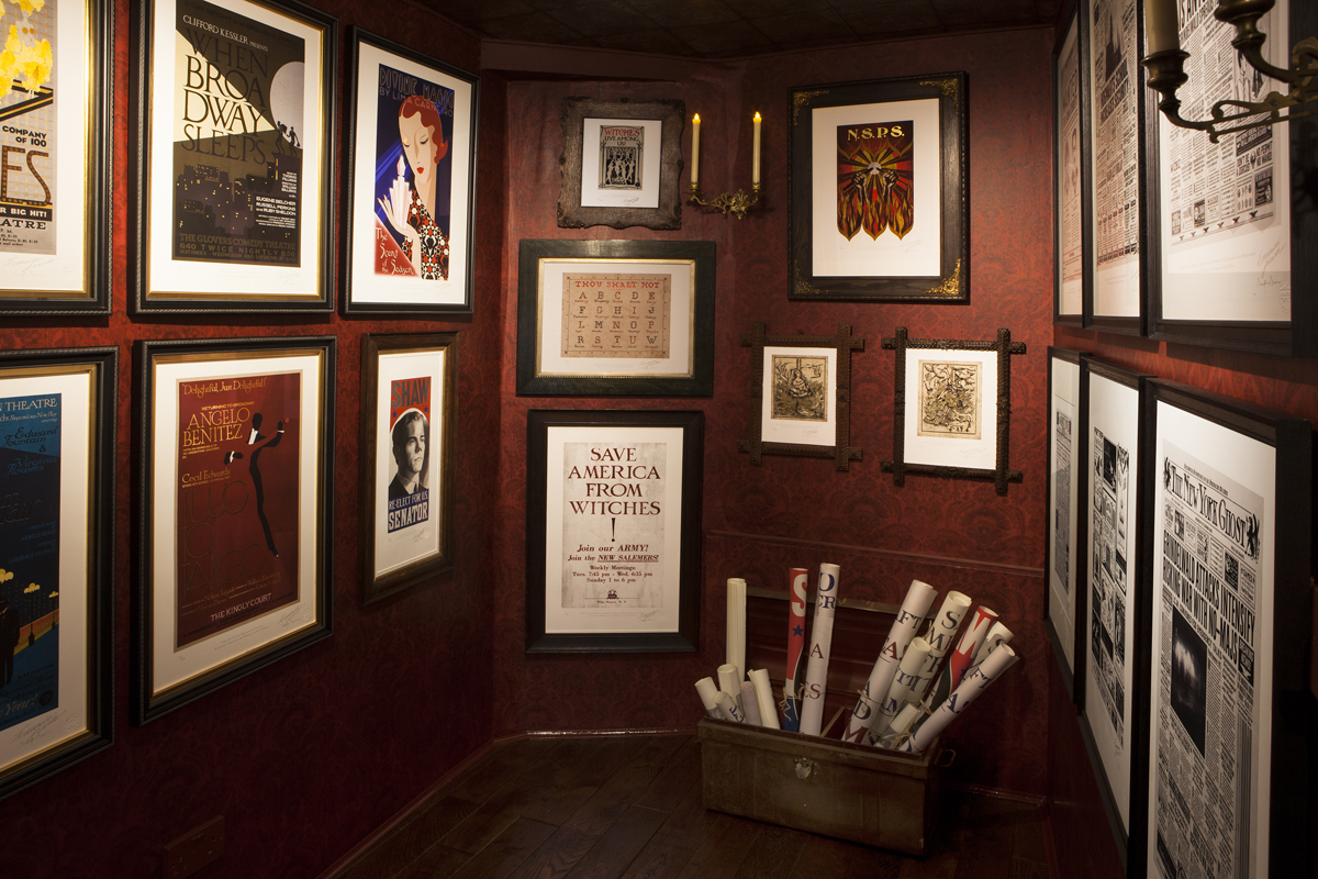 At the House of MinaLima; photograph by Steve Williams