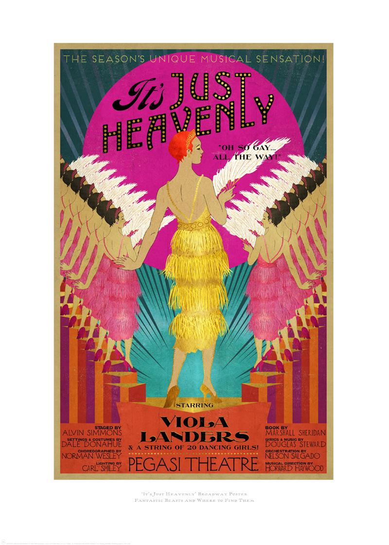 Poster designed for 1920s New York