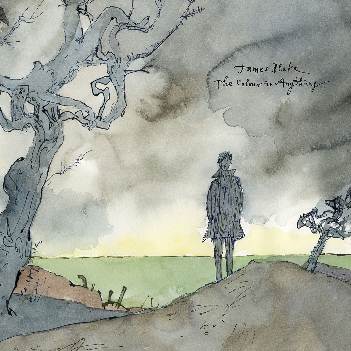 James Blake - The Colour in Anything. Sir Quentin Blake created the album's cover art, which was also made into a mural in East London