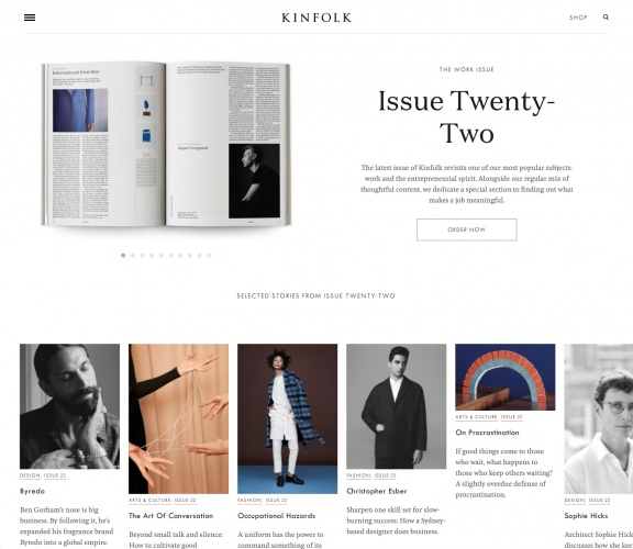 Kinfolk website