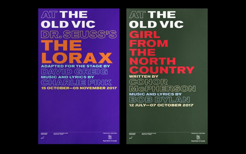Pentagram's posters promoting The Old Vic's 2016/17 season