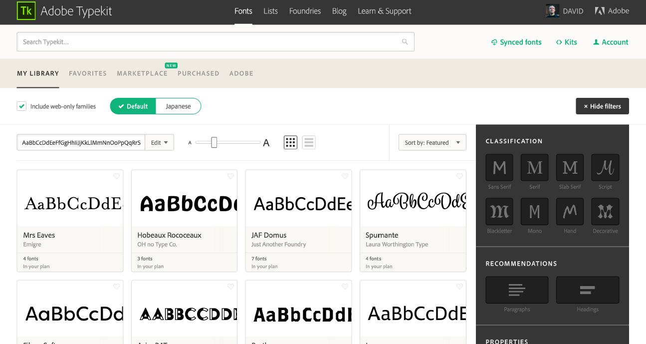 Adobe Typekit Marketplace lets users buy fonts for a one-off fee without a Creative Cloud subscription
