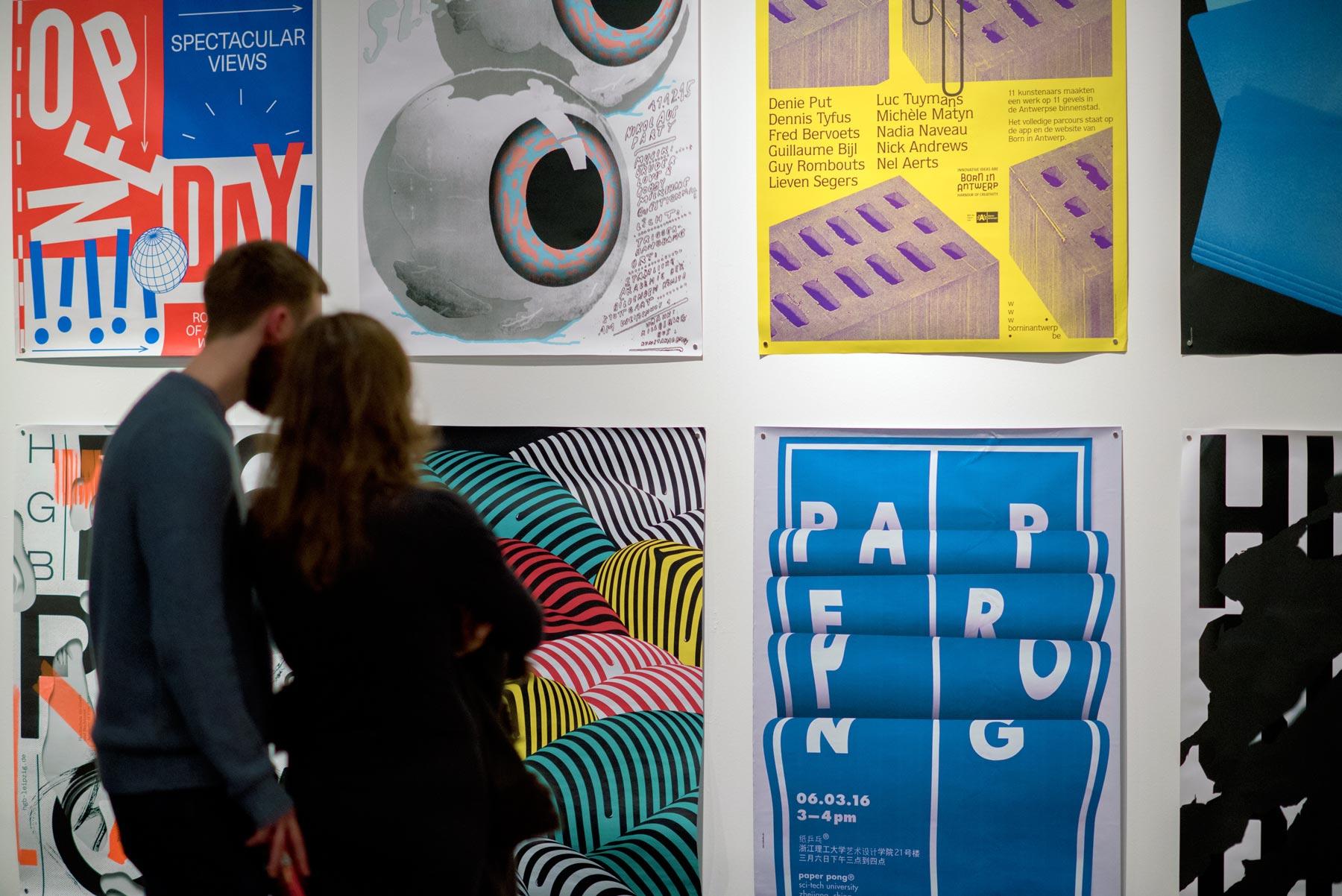 Graphic Design Festival Scotland's international poster exhibition. Image: Stephen Hughes