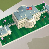 The animation sees the White House appear on the surface of a dollar bill