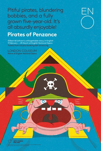 Toby Leigh (Tobatron's) colourful artwork for the Pirates of Penzance