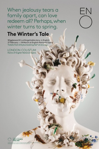 The Winter's Tale poster, featuring a sculpture by Jess Riva Cooper